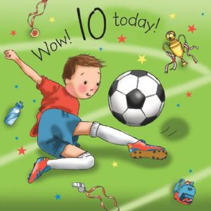 TW674 - Age 10 Birthday Card Boys